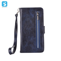 Zipper PU Leather Wallet Case for Samsung Galaxy S8 Plus
