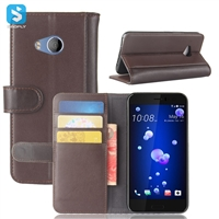 Genuine Leather Wallet Case for HTC U11 Life