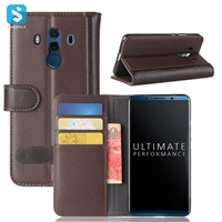 Genuine Leather Wallet Case for Huawei Mate 10