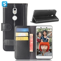 Genuine Leather Wallet Case for Nokia 7