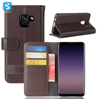 Genuine Leather Wallet Case for Samsung A5 2018 (A530F)