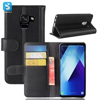 Genuine Leather Wallet Case for Samsung Galaxy A7 2018 (A730F)