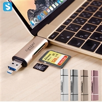 Type C to TF SD Card USB Micro Port Adapter