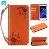 Flower PU Leather Magnet Case for Samsung Galaxy S7