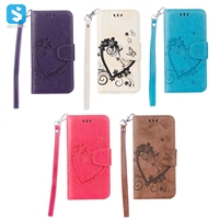 Embossed Flower PU Leather Wallet Case for Samsung Galaxy S7 Edge