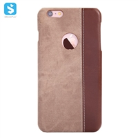 Contrast Color PU Leather Back Cover for iPhone 6s
