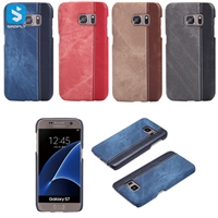 Contrast Color PU Leather Back Cover for Samsung Galaxy S7 /G930