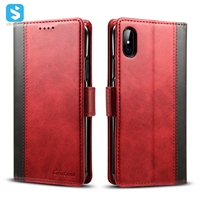 Contrast Color Wallet Case for iPhone x