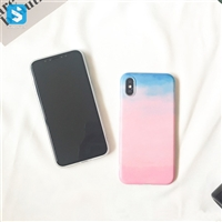 Soft Gradient Sky Color Case for iPhone X