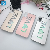 Electronic Love Pattern Liquid Case for iPhone X