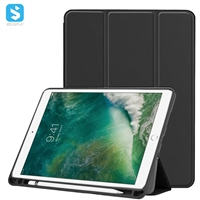 Tri Fold PU Leather Case for iPad Pro 10.5 with Pencil Slot