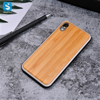 Nature double color bamboo phone case for iPhone X