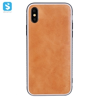 Real leather phone case for iPhone X