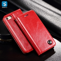 Magnetic pu leather wallet phone case for iPhone 7 8