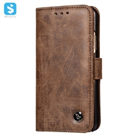 Pu leather wallet phone case for iPhone X
