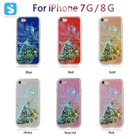 TPU PC glitter electroplate combo phone case for iPhone 7 8