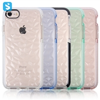 double color TPU case for iphone 7 8(diamond lines)