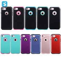 3 in 1 Hybrid PC+ silicone phone case for iPhone 7 8