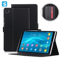 ultra thin carton fiber case with card slot and front stand for huawei Media pad M5 8.4