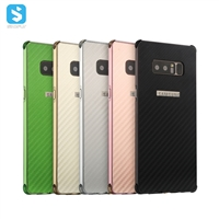 carbon fiber shockproof case metal edge for Samsung Galaxy Note 8