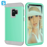 3 in 1 PC silicone phone case for Samsung Galaxy S9