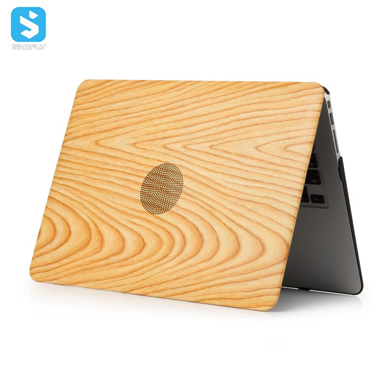 skin wooden grain case matte PC back cover for macbook Pro 13