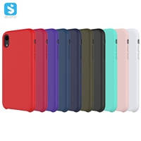 liquid silicon full cover case for iPhone XR