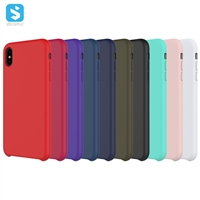 liquid silicon full cover case for iPhone Xs Max