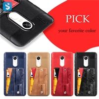 stand PU phone case for MI Redmi Note 4/4X