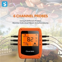 Smart barbecue thermometer