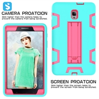 silicone PC with stand case for Samsung Galaxy Tab A 8.0 2017(T380/T385)
