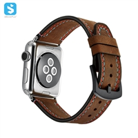 Crazy horse cowhide watchband for Apple watch 1 2 3