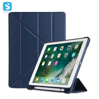 TPU PU case with pen holder for ipad 9.7 2017/2018, ipad pro 9.7, ipad air,ipad air 2