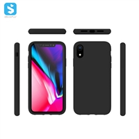 liquid silicone with Soft Microfiber Lining full cover for iphone XR