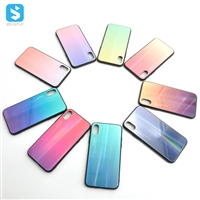 gradient glass TPU phone case for iphone XS MAX