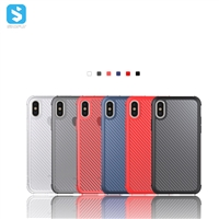 Carbon fiber flameproof TPU phone case for iPhone XS MAX