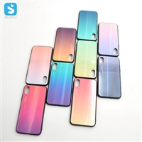 gradual change glass TPU phone case for iphone xs