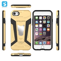 TPU PC with stand phone case for iphone 7 8