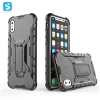TPU PC with stand phone case for iphone X(S)