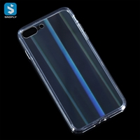 Tempered Glass TPU phone case for iphone 7 8 Plus