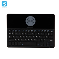 tempered glass panel wireless keyboard with wireless charging