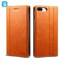 Calfskin pattern genuine leather case for iphone 7 8 Plus