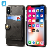 Cowhide lines leather case for iPhone XS